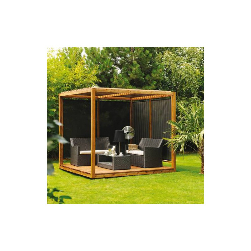 pergola en bois format cube cubik. Black Bedroom Furniture Sets. Home Design Ideas