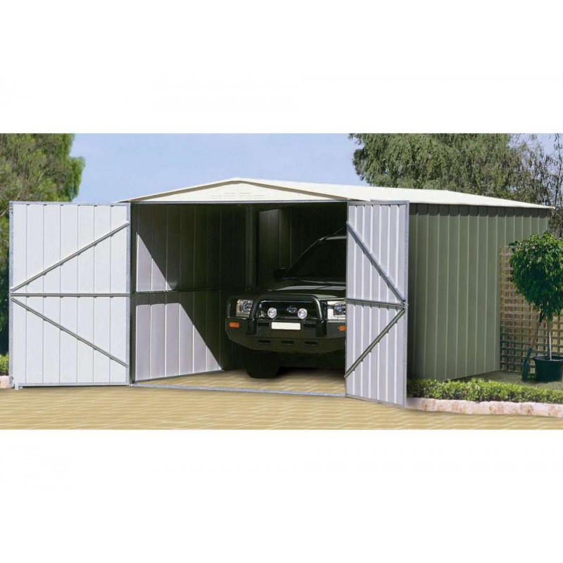 garage m tal colorbond 18 05m treco kit d 39 ancrage. Black Bedroom Furniture Sets. Home Design Ideas