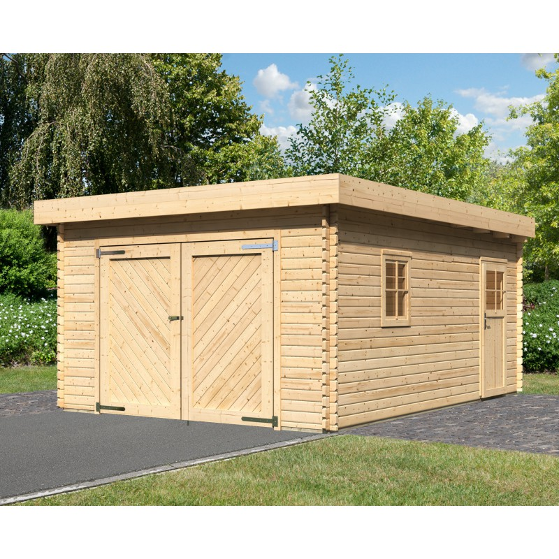 Garage en metal 2017 2018 best cars reviews for Abri jardin toit plat 20m2