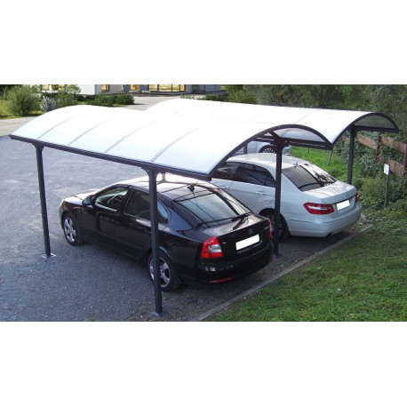 carport 2 voitures en alu et polycarbonate 6mm anti uv. Black Bedroom Furniture Sets. Home Design Ideas