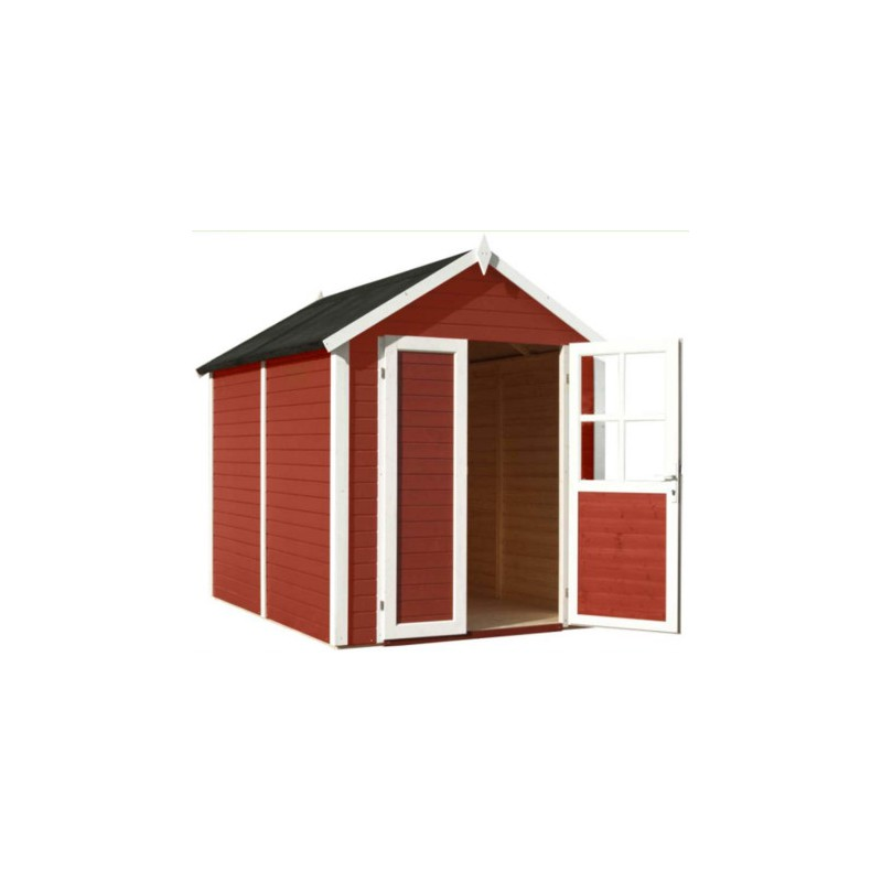 abri de jardin sonderborg 4 31m plancher trait peint rouge baltic. Black Bedroom Furniture Sets. Home Design Ideas