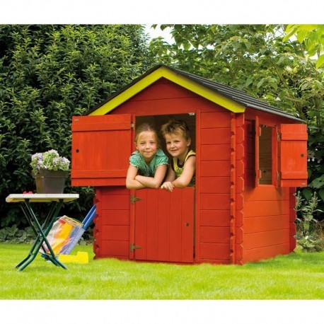 Cabane jardin enfant madriers 19mm little park bear county for Bear county abri de jardin
