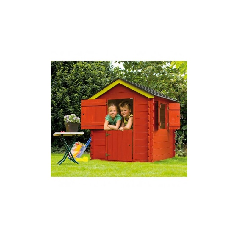 cabane jardin enfant madriers 19mm little park bear county. Black Bedroom Furniture Sets. Home Design Ideas