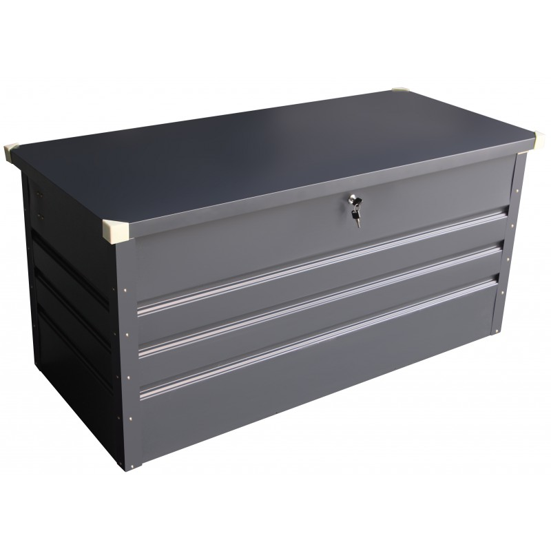coffre de rangement en m tal anthracite 650l avec plancher x metal. Black Bedroom Furniture Sets. Home Design Ideas