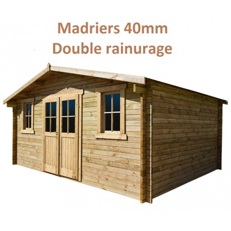 De Jardin M Plus En Bois Mm Trait Teint Marron Gardy Shelter