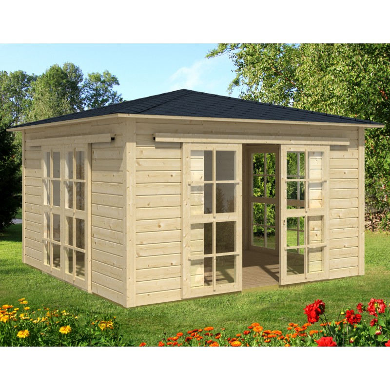 maison de jardin en bois 13 25m panneaux 19mm tea house plancher. Black Bedroom Furniture Sets. Home Design Ideas