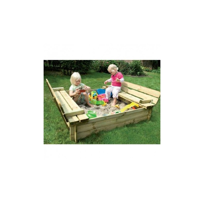 Bac sable en bois fsc sandy park jungle gym for Bac en bois jardin