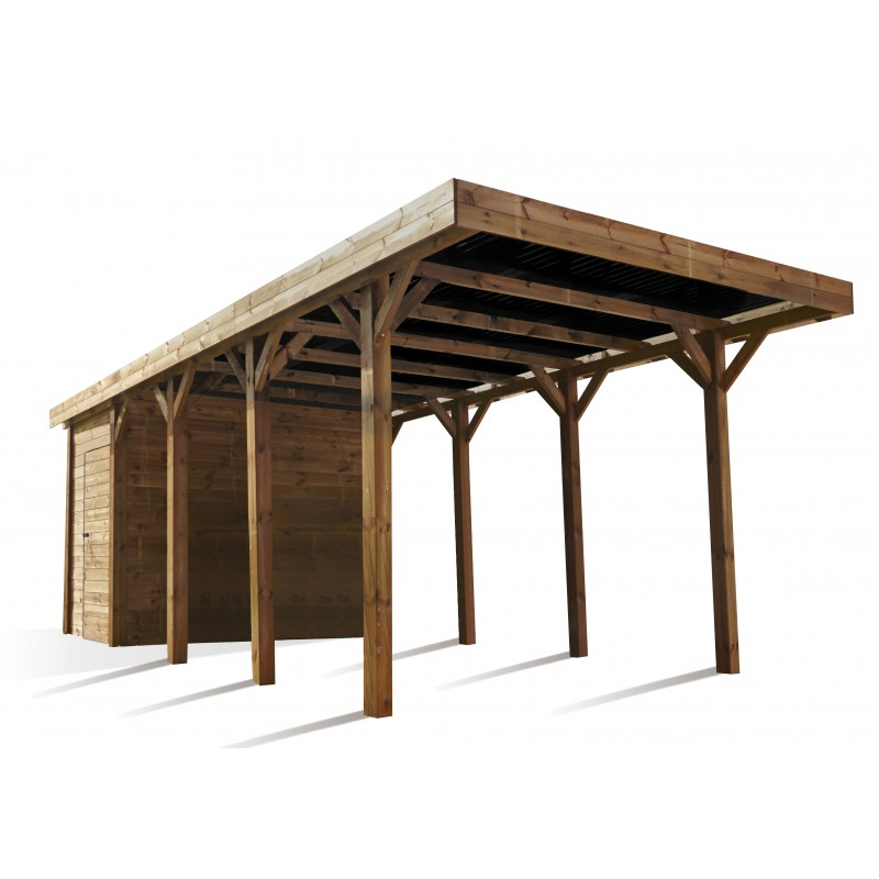 carport avec d barras 20m en bois autoclave fsc harry madeira. Black Bedroom Furniture Sets. Home Design Ideas