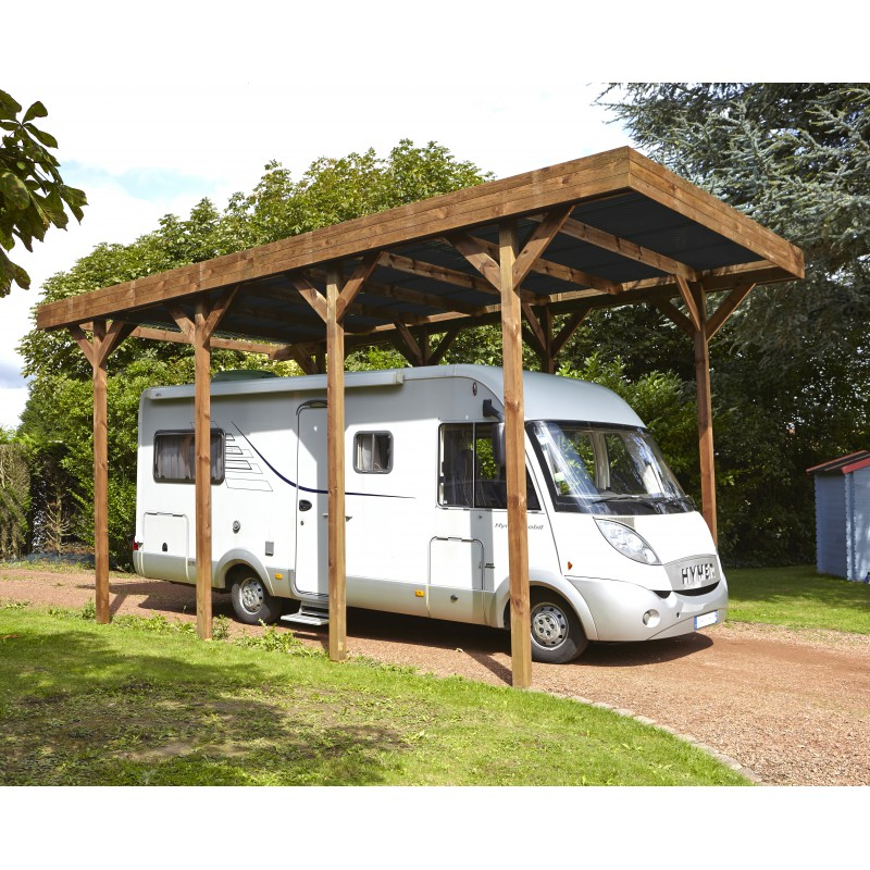carport camping car 32 40m en bois trait autoclave madeira. Black Bedroom Furniture Sets. Home Design Ideas