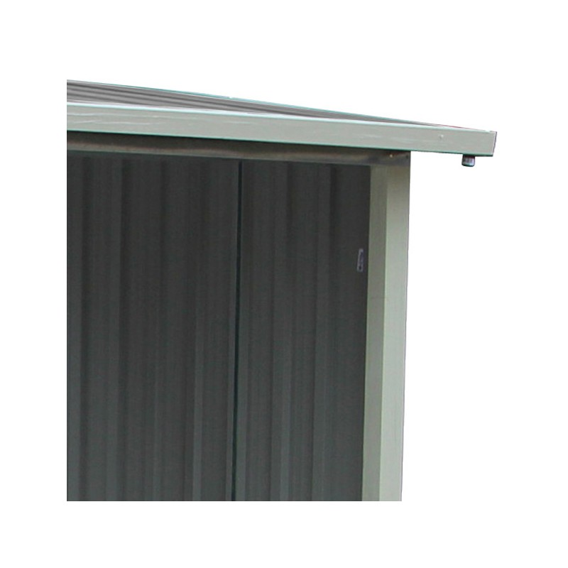Abri buches en m tal anthracite 6 st res x metal for Abris de jardin ral 7016