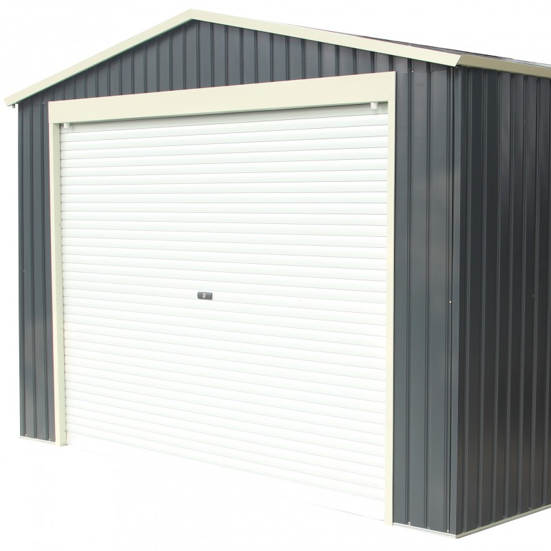 Garage m tal anthracite 19 5m porte enroulable ancrage x metal - Porte enroulable garage ...