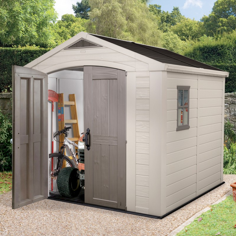 abris de jardin resine keter - 28 images - plastic shed for narrow ...