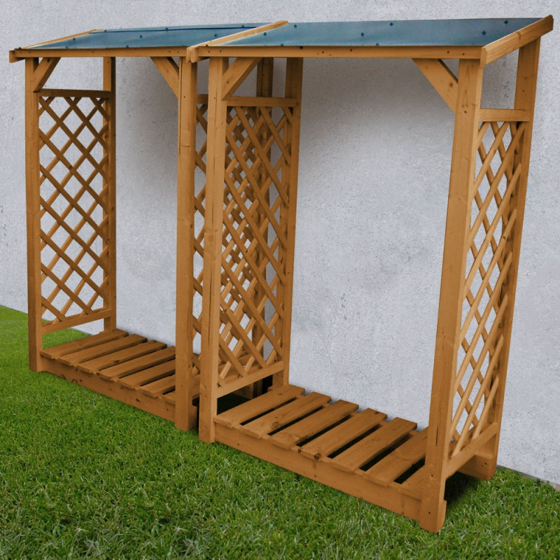 Abri b ches modulable 2 5 st res en bois trait gardy shelter for Abri en bois