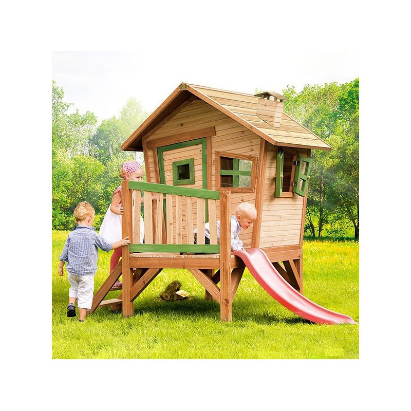 cabane pour enfants en bois robin 262x157x199cm axi. Black Bedroom Furniture Sets. Home Design Ideas