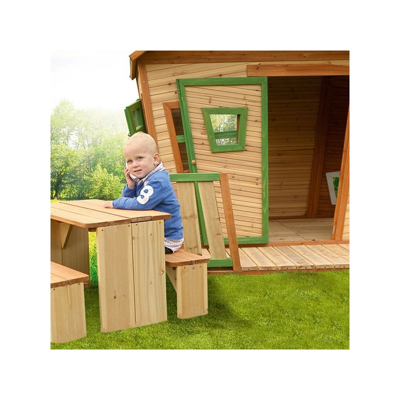 cabane pour enfants en bois lisa 180x180x167cm axi. Black Bedroom Furniture Sets. Home Design Ideas