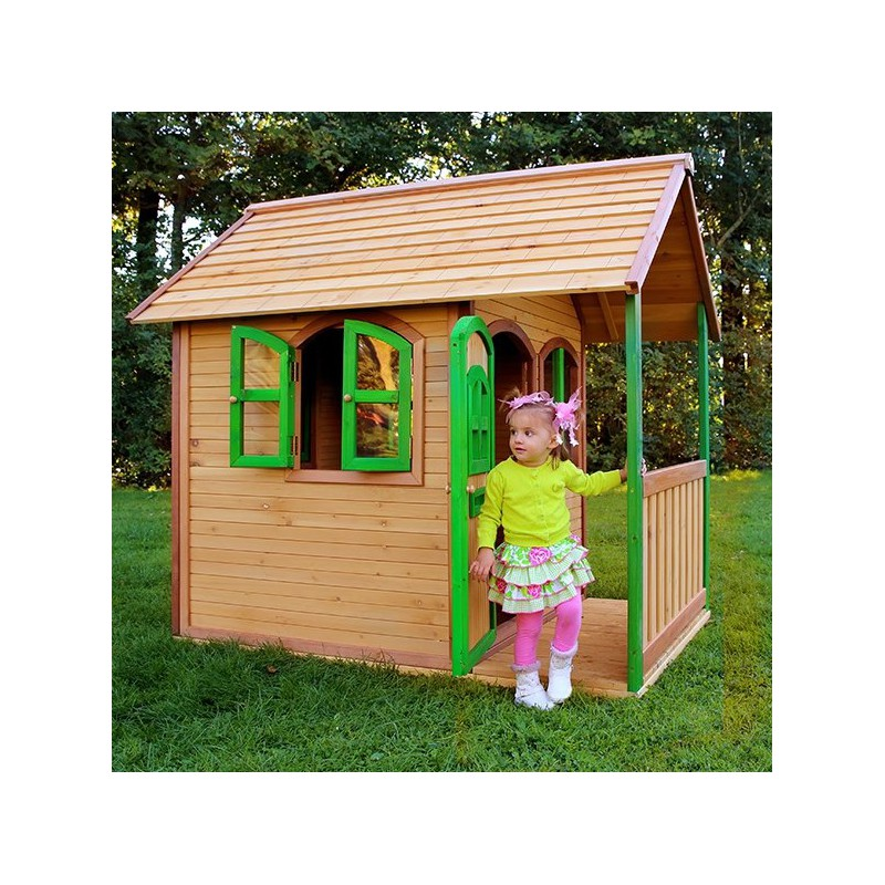 cabane pour enfants en bois alex 118x172x174cm axi. Black Bedroom Furniture Sets. Home Design Ideas