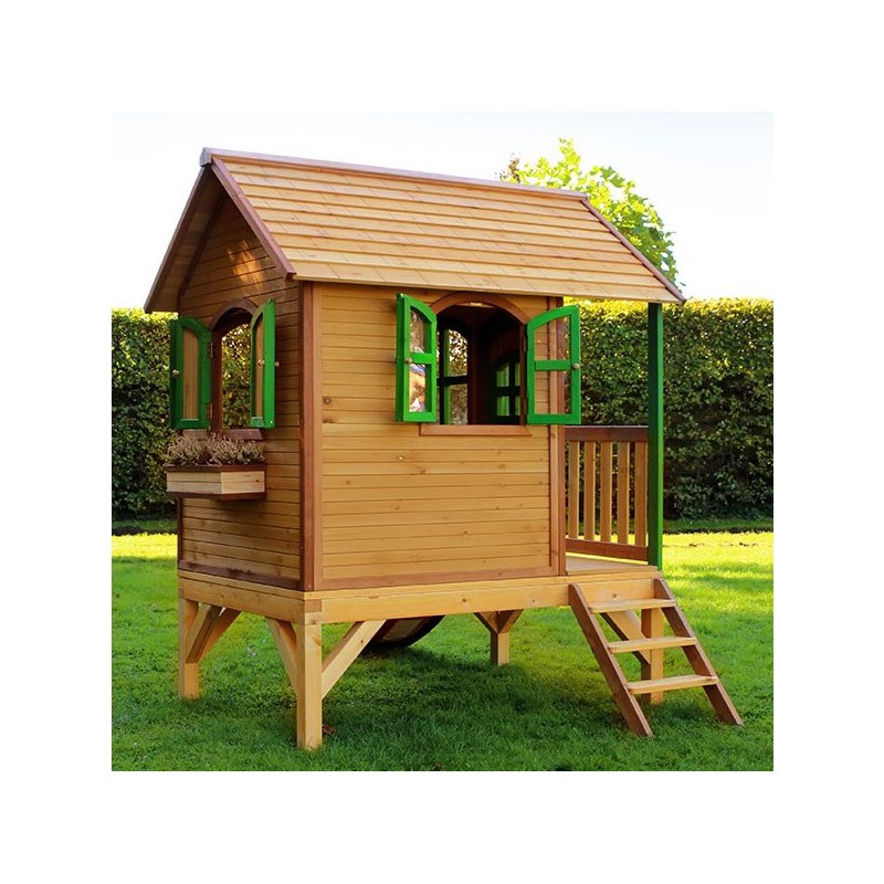 cabane pour enfants en bois tom 285x172x230cm axi. Black Bedroom Furniture Sets. Home Design Ideas