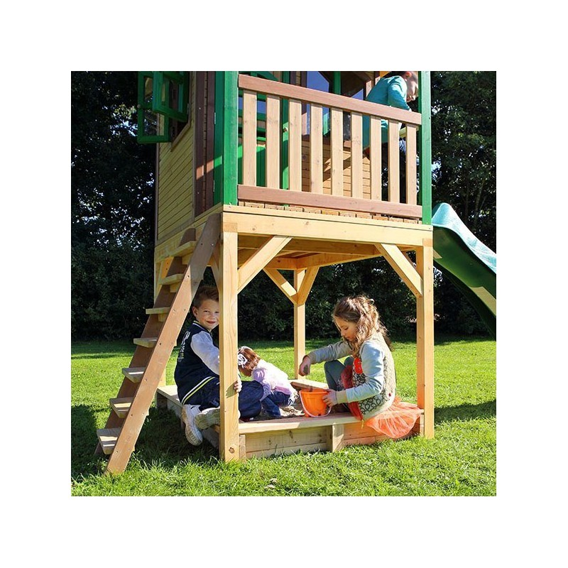 cabane pour enfants en bois sarah 373x172x290cm axi. Black Bedroom Furniture Sets. Home Design Ideas