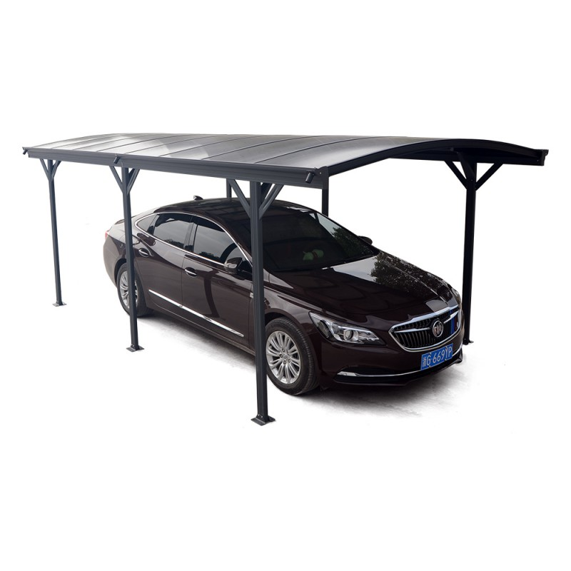 carport en alu anthracite 3x5 05m toit polycarbonate 6mm x metal. Black Bedroom Furniture Sets. Home Design Ideas