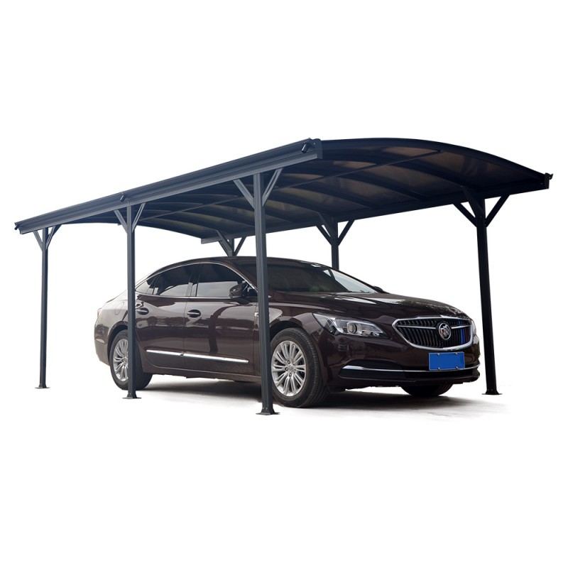 carport en alu anthracite 3x5 76m et polycarbonate 6mm x metal. Black Bedroom Furniture Sets. Home Design Ideas