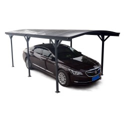 Carport en aluminium anthracite 3x5,76m et polycarbonate 6mm X-METAL
