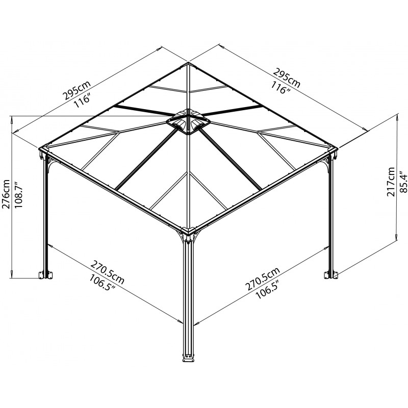Chalet with carport for Abri jardin metal gris anthracite