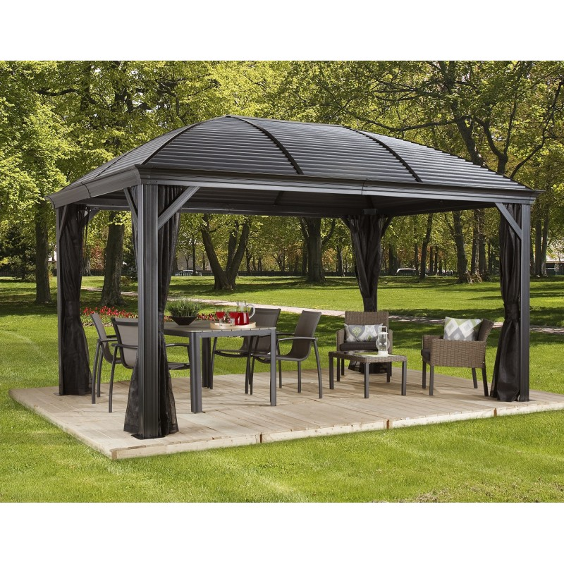 pergola 3x4m moreno alu anthracite et toit en acier. Black Bedroom Furniture Sets. Home Design Ideas