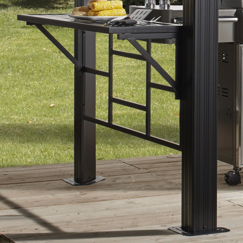 pergola en aluminium anthracite messina bbq 2x3m sojag. Black Bedroom Furniture Sets. Home Design Ideas