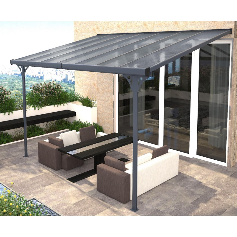 pergola adoss e ajustable toit de terrasse en alu 3 05x4 36m x metal. Black Bedroom Furniture Sets. Home Design Ideas