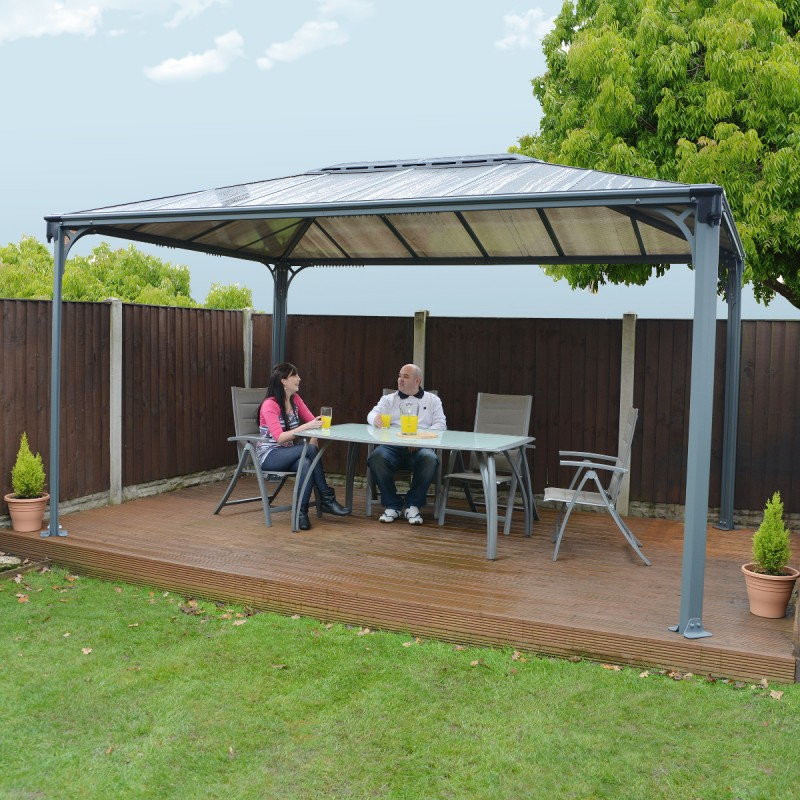 pergola en aluminium et polycarbonate martinique 4300. Black Bedroom Furniture Sets. Home Design Ideas