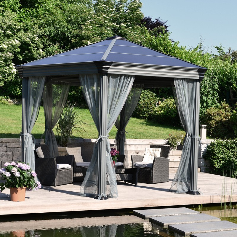 pergola en aluminium et polycarbonate roma palram. Black Bedroom Furniture Sets. Home Design Ideas