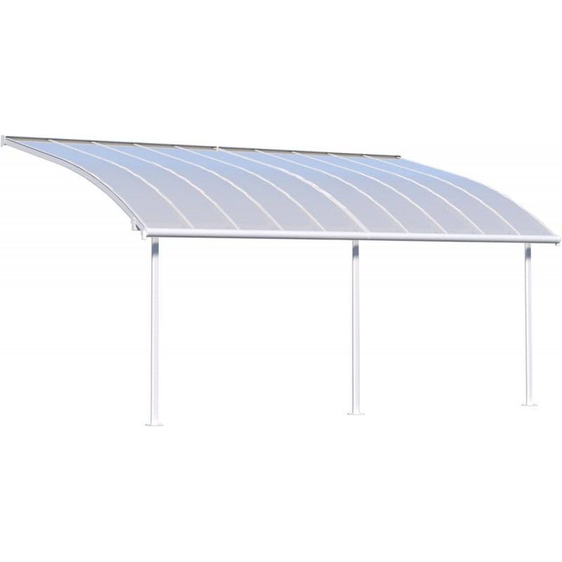 pergola 300x610cm alu blanc et toit polycarbonate 8mm joya palram. Black Bedroom Furniture Sets. Home Design Ideas