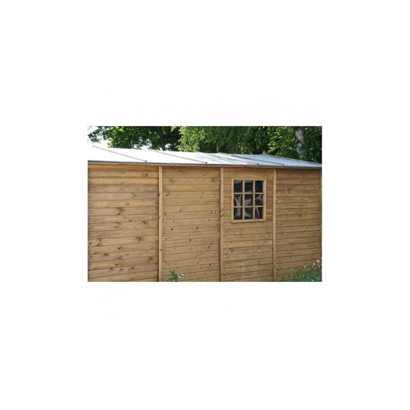 Garage en bois trait 16 4m 19mm albatros for Garage de jardin en bois