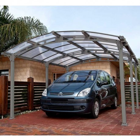 carport en aluminium 1 voiture de 18 17m arcadia. Black Bedroom Furniture Sets. Home Design Ideas
